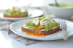 Smashed Avocado Toast with Poached Eggs