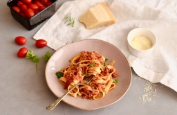 Porcini Mushrooms, Tuna and Tomato Tagliatelle