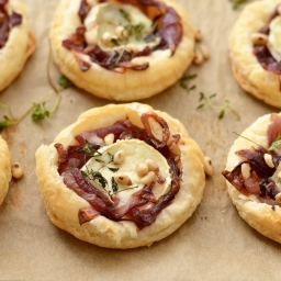 Caramelised Onions and Goats Cheese Little Tarts