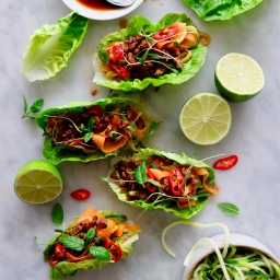 Thai Crispy Pork Lettuce Wraps