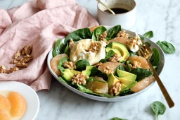 Grapefruit, Avocado & Mozzarella Salad