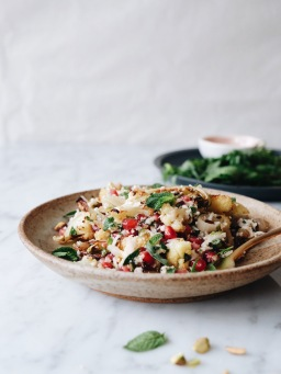 Cauliflower, Pomegranate & Pistachio Salad